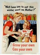 Guc+ Wwii Propaganda Poster Grow Your Own Can Your Own Ready For Framing