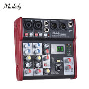 Portable Muslady Sm-66 Mixing Console 4 Channels Mixer And 16 Effects For Dj L6t2
