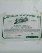 New Bright 1996 Holiday Express Animated Train Set 380 G Scale Complete