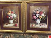 2 Jack Terry Floral Art Print-signed 24.5 W By 28.5 T