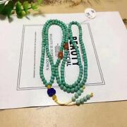 4mm Natural Green Turquoise Quartz Crystal Beads Bracelet Aaa