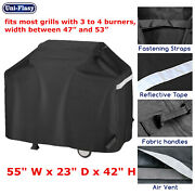 55 3 To 4 Burners Gas Grill Cover For Weber Nexgrill Brinkmann Kenmore Dyna Glo