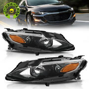 For 2019-2020 Chevy Malibu Halogen Headlights Projector Headlamps Replacement