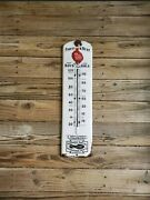 1915 Friedman-shelby International Shoe Co Red Goose Shoes Porcelain Thermometer