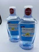 2 Pack Dickinsons Witch Hazel Deep Cleansing Astringent 16 Oz Menthol Eucalyptus