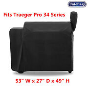 Outdoor Heavy Duty Waterproof Bbq Grill Cover For Traeger 34 Series Pellet Grill