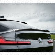 Fit 2018-2021 Bmw X4-series G02 V-type Real Carbon Fiber Rear Trunk Spoiler Wing