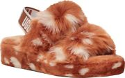 Ugg Oh Yeah Spots Slingback Slipper Womenandrsquos In Natural Faux Shearling - New