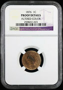 1876 1c Proof Indian Head Cent Ngc Proof Details