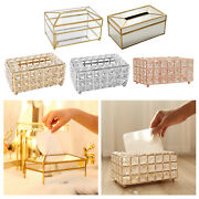 Bling Tissue Box Cover Case Crystal Home Office Car Decorative Napkin Holder