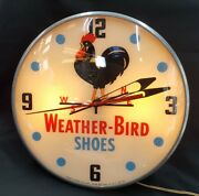 Vintage 1956 Pam Weather-bird Shoes Electric Wall Clock