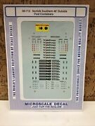 Microscale Decal N Scale 60-713 Norfolk Southern 48' Outside Post Containers