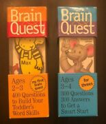 Lot Of 2 Brain Quest Card Decks - My First Brain Quest And Brain Quest For Three