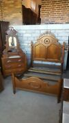 Antique Matching Victorian Bed And Dresser