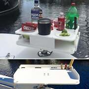 The Docktail Boat Table Caddy Plus Custom Bait Table With All Angle Adjustable R