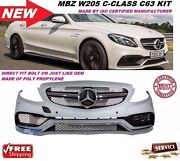 Benz W205 2015-18 C-class C63 Amg Style Front Bumper Cover With Sensor