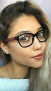 New Versace Mod. 2532 8451 52mm Cats Eye Tortoise Red Womenand039s Eyeglasses 7
