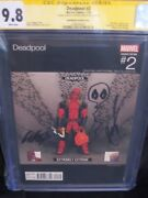 Deadpool 2 Cgc 9.8 Hawthorne Extremely Extreme Hip Hop Variant Liefeld Sketch