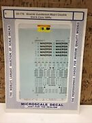 Microscale Decal N Scale 60-778 Maersk Gunderson Double Stack Cars 1989+