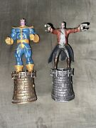 Rare Thanos And Star Lord Chess Collection Figures By Eaglemoss And Marvel