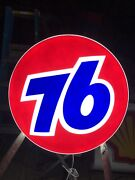 """76 Sign Sevice Station Logo 33"""" Authentic Shipping Included Usa 48 🇺🇸"""