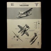 Wwii 1943 Us Navy Carrier Bomber Curtiss Sb2c Helldiver W.e.f.t.u.p. Poster