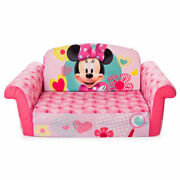 Marshmallow Furniture Kids Flip Open Furniture Couch Minnie Mouse Open Box