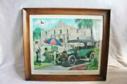 Humble Oil Framed Print Great Moments Early American Motoring 1911 Pope-hartford