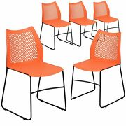 5 Pack 661 Lb. Capacity Stack Chair With Air-vent Back And