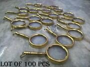 Antique Nautical Magnifying Glass Key Ring Lot Of 100 Pcs Brass Collectible Gift
