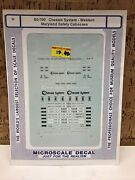 Microscale Decal N Scale 60-790 Chessie System- Western Maryland Safety Caboose