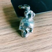 Pilgrim Danish Design Silver Plated Skull With Crown Charm