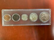 1955 Us Mint Unc Set - Sealed In Whitman Plastic Holder 3 90 Silver Coins