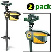 Scarecrow Motion-activated Animal Deterrent - 2 Pack - Sprinkler Spray Electroni