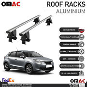 Silver Smooth Roof Rack Cross Bar Luggage Carrier For Suzuki Baleno 2015-2019