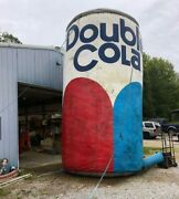 Huge Vintage Double Cola Inflatiable Can With Blower 22 Foot Tall
