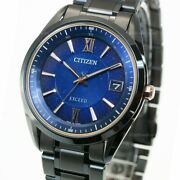 Citizen Exceed Eco-drive Radio Cosmic Blue Collection Watch Menand039s As7164-99l New