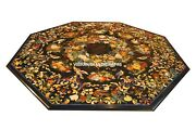 Antik Marmor Achteckige Ess Table Top Marquetry Inlay Arbeit Scagliola Art H3810