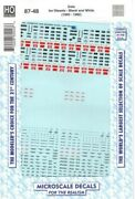 Microscale 8748 Diesel Loco Data Sheets Builders Plates Decal Ho Scale Mib
