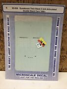 Microscale Decal N Scale 60-838 Gunderson Twin Stack 5 Unit Double Stack Cars