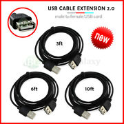 Lot 1-100 Usb Extension Cable 3' 6' For Samsung Galaxy S3 S4 S5 S6 S7 S8 Plus