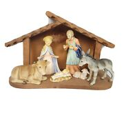 Hummel Goebel 214 Nativity 6 Pc. W/ Stable Vintage 1980and039s