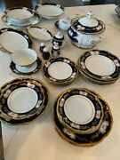 Exquisite Reichenbach Porcelain Dinner Set, East Germany Circa 1975