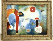 Andy Auld Modernist Oil Painting On Canvas. Geometric Shapes.