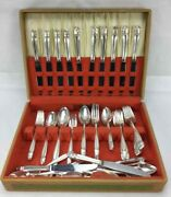 Danish Princess Silverplate Dinner Set And Chest 66 Pc Holmes And Edwards Flatware