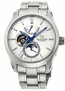Orient Star Mechanical Moon Phase Rk-ay0002s Menand039s Watch Automatic White New