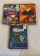 Lot Disney Dvd Aladdin Lion King Finding Nemo All Are 2 Disc Special Edition