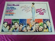 What A Way To Go 20th Cen. Rolled-1964 Movie-orig. 1/2 Sht. Movie Poster