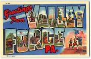 Valley Forge Pa Large Letter Linen Postcard Revolutionary War, Washington's Army