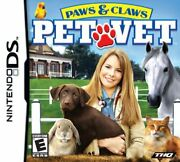 Nintendo Ds - Paws And Claws Pet Vet / Game - Game 7cvg The Cheap Fast Free Post